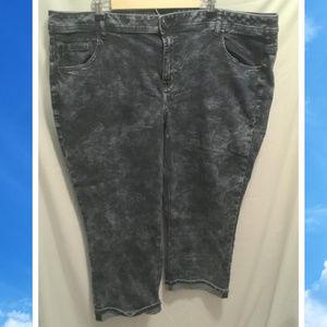 Size 26 Lane Bryant Jeans Crop Cuffed Stretchy